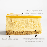 "Mango Passion Fruit Cheesecake 8"" - Cheesecakes - Petiteserie Desserts - - Eat Cake Today - Birthday Cake Delivery - KL/PJ/Malaysia"