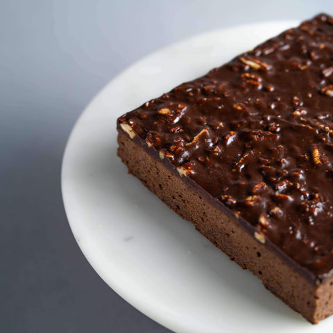 "Manjari Pecan Brownie 7"" - Brownies - Lachér Patisserie - - Eat Cake Today - Birthday Cake Delivery - KL/PJ/Malaysia"