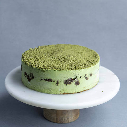 "Matcha Ice Cream Cake 8"" - Ice Cream Cake - Cake Tella - - Eat Cake Today - Birthday Cake Delivery - KL/PJ/Malaysia"