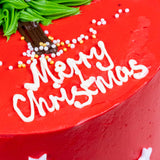 "Merry Christmas Cake 6"" - Buttercakes - Baker's Art - - Eat Cake Today - Birthday Cake Delivery - KL/PJ/Malaysia"