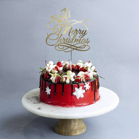 "Merry Wreath Cake 7"" - Butter Cake - Little Collins - - Eat Cake Today - Birthday Cake Delivery - KL/PJ/Malaysia"