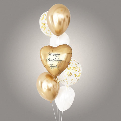 Metallic Heart Balloon Bouquet - Add On - Party Perfect - - Eat Cake Today - Birthday Cake Delivery - KL/PJ/Malaysia