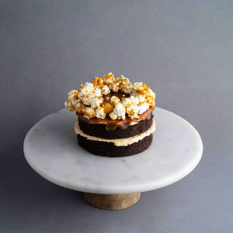 "Mini Salted Caramel Popcorn Cake 5"" - Salted Caramel Chocolate Cake - Ennoble - - Eat Cake Today - Birthday Cake Delivery - KL/PJ/Malaysia"