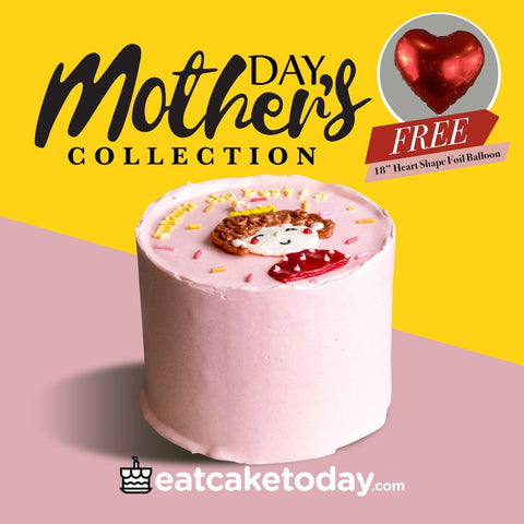 "Mommy Da Best Korean Cake 5"" FREE Balloon - Designer Cakes - Lavish Patisserie - - Eat Cake Today - Birthday Cake Delivery - KL/PJ/Malaysia"