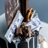 "Money Theme Cake 4"" - Designer Cake - The Buttercake Factory - - Eat Cake Today - Birthday Cake Delivery - KL/PJ/Malaysia"