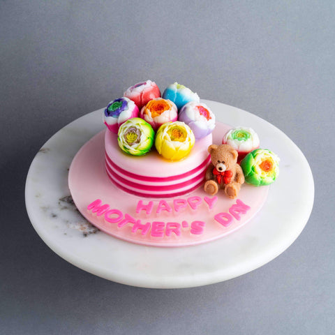 "Mother's Teddy Jelly Cake 4.5"" - Jelly Cakes - Q Jelly Bakery - - - - Eat Cake Today - Birthday Cake Delivery - KL/PJ/Malaysia"