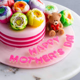 "Mother's Teddy Jelly Cake 4.5"" - Jelly Cakes - Q Jelly Bakery - - Eat Cake Today - Birthday Cake Delivery - KL/PJ/Malaysia"