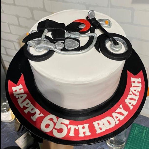 "motorbike cake 6"" - Customized Cake - Cakes by Maine - - Eat Cake Today - Birthday Cake Delivery - KL/PJ/Malaysia"