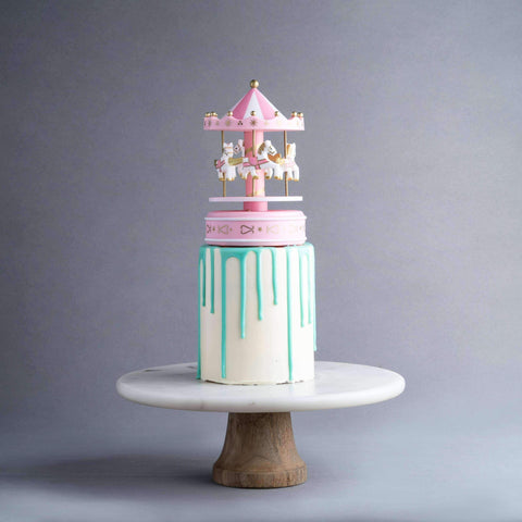 "Music Carousel Drip Cake 5"" - Designer Cake - D'sabroso - - - - Eat Cake Today - Birthday Cake Delivery - KL/PJ/Malaysia"