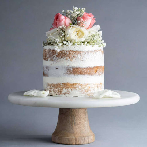"Naked Cake with Fresh Flowers 6"" - Designer Cake - M Cake Boutique - - - - Eat Cake Today - Birthday Cake Delivery - KL/PJ/Malaysia"