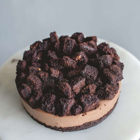 "Naughty and Nice Chocolate Cheesecake 7"" - Cheesecakes - Cat & The Fiddle - - Eat Cake Today - Birthday Cake Delivery - KL/PJ/Malaysia"