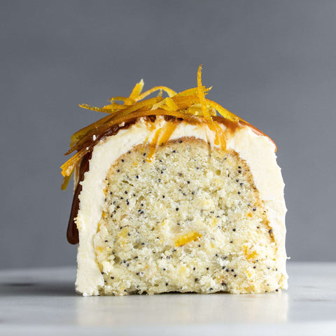 "Orange Butter Bundt Cake with Poppy Seed Crown 9.5"" - Bundt - Food Foundry - - Eat Cake Today - Birthday Cake Delivery - KL/PJ/Malaysia"