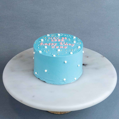 "Pastel Blue Korean Cake 5"" - Sponge Cake - Cakes by Maine - - Eat Cake Today - Birthday Cake Delivery - KL/PJ/Malaysia"