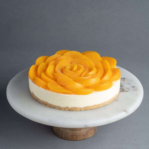 Peaches to Riches Cheesecake - Cheesecakes - Purple Monkey - - Eat Cake Today - Birthday Cake Delivery - KL/PJ/Malaysia