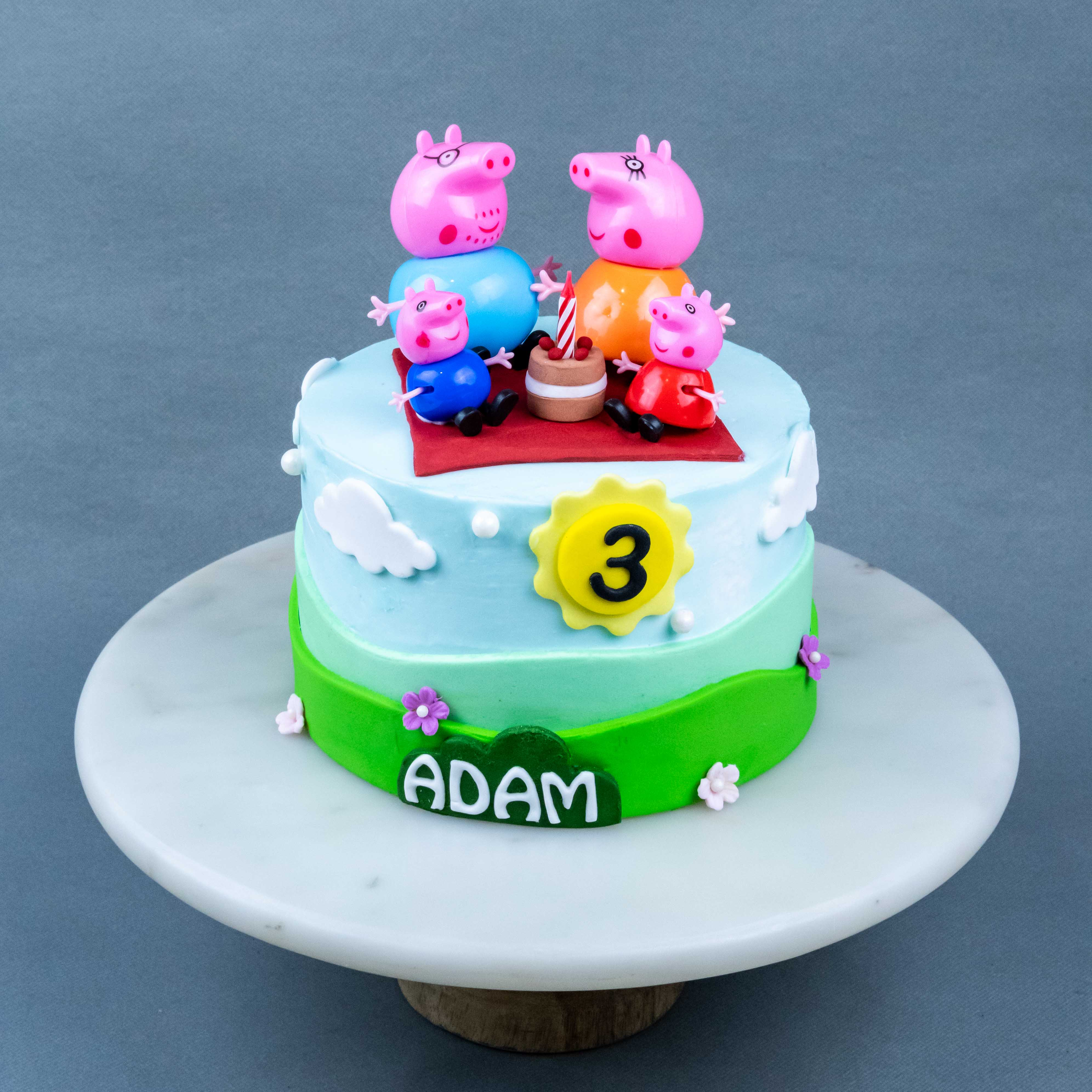 Peppa Pig Family Picnic Cake Eat Cake Today Online Birthday Cake Delivery Kl