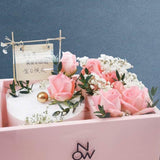 Pink Lady Cake & Flower Gift Set - Foam Cakes - Now Bakery - - Eat Cake Today - Birthday Cake Delivery - KL/PJ/Malaysia