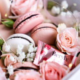 Pink Lady Flower Box - Macarons - Deux Cake - - Eat Cake Today - Birthday Cake Delivery - KL/PJ/Malaysia