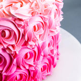 Pink Rosette Cake - Designer Cakes - Pandalicious Bakery - - Eat Cake Today - Birthday Cake Delivery - KL/PJ/Malaysia