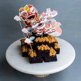 "Prosperity Lion Brownie Box 8"" - Brownies - K.Bake - - Eat Cake Today - Birthday Cake Delivery - KL/PJ/Malaysia"