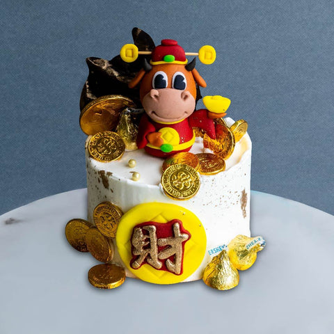 Prosperity Ox Cake - Buttercakes - In The Clouds Cakes - - Eat Cake Today - Birthday Cake Delivery - KL/PJ/Malaysia