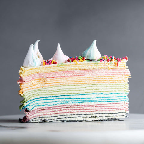 "Rainbow Mille Crepe 9"" - Mille Crepe - Food Foundry - - - - Eat Cake Today - Birthday Cake Delivery - KL/PJ/Malaysia"