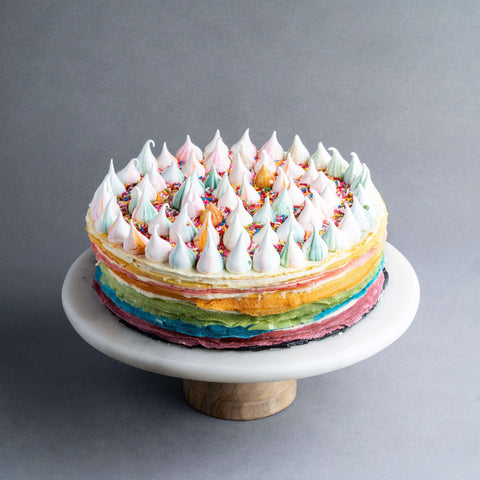 "Rainbow Mille Crepe 9"" - Mille Crepe - Food Foundry - - Eat Cake Today - Birthday Cake Delivery - KL/PJ/Malaysia"