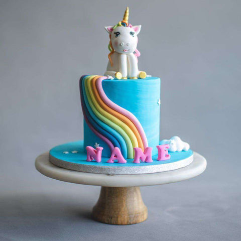 "Rainbow Pony Cake 5"" - Designer Cake - B'Sweetbites - - Eat Cake Today - Birthday Cake Delivery - KL/PJ/Malaysia"