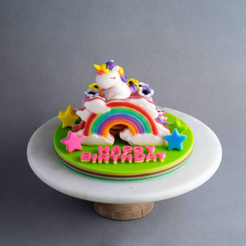Rainbow Unicorn Jelly Cake - Jelly Cakes - Q Jelly Bakery - - - - Eat Cake Today - Birthday Cake Delivery - KL/PJ/Malaysia