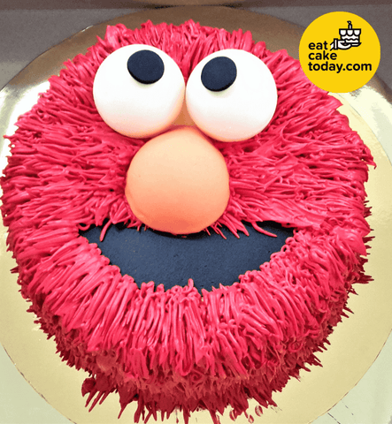 Red Elmo Cake 6' (Customized) - - Eat Cake Today - Cake Delivery from Malaysia's Best Bakers - - Eat Cake Today - Birthday Cake Delivery - KL/PJ/Malaysia