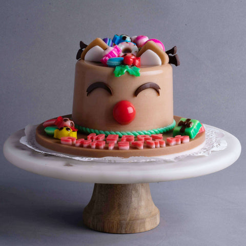 "Reindeer Jelly Cake 4"" - Jelly Cakes - Q Jelly Bakery - - Eat Cake Today - Birthday Cake Delivery - KL/PJ/Malaysia"