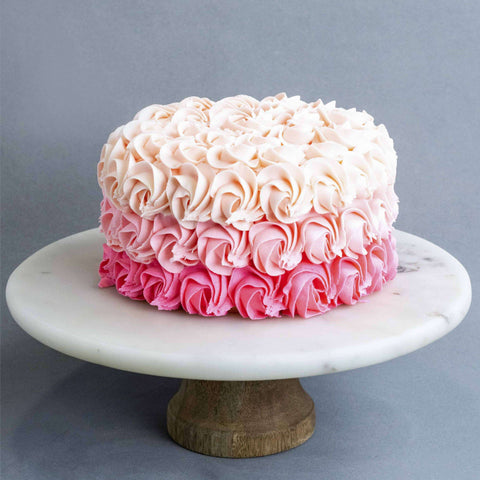 "Rosette Cake 6"" - Designer Cake - Little Tee Cakes - - Eat Cake Today - Birthday Cake Delivery - KL/PJ/Malaysia"