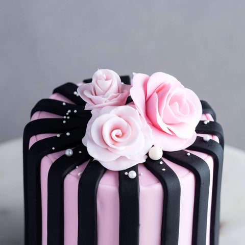 "Rosey Cake 4"" - Designer Cake - B'Sweetbites - - - - Eat Cake Today - Birthday Cake Delivery - KL/PJ/Malaysia"