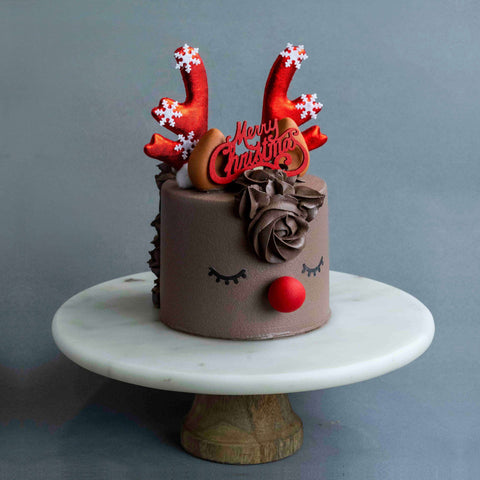 Rudolph Cake - Designer Cake - Project Cake Therapy - - Eat Cake Today - Birthday Cake Delivery - KL/PJ/Malaysia