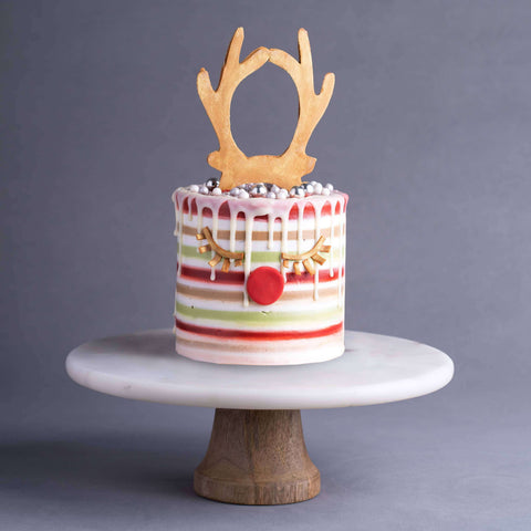 "Rudolph Sparks 5"" - Designer Cake - Kak Sal Kueh - - - - Eat Cake Today - Birthday Cake Delivery - KL/PJ/Malaysia"