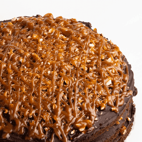 Chocolate Salted Caramel Praline Cake - Salted Caramel Chocolate Cake - Ennoble by Elevete - - Eat Cake Today - Birthday Cake Delivery - KL/PJ/Malaysia