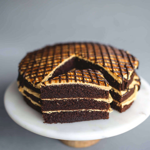 "Salted Caramel Drizzle Cake 9"" - Salted Caramel Chocolate Cake - Ennoble - - - - Eat Cake Today - Birthday Cake Delivery - KL/PJ/Malaysia"