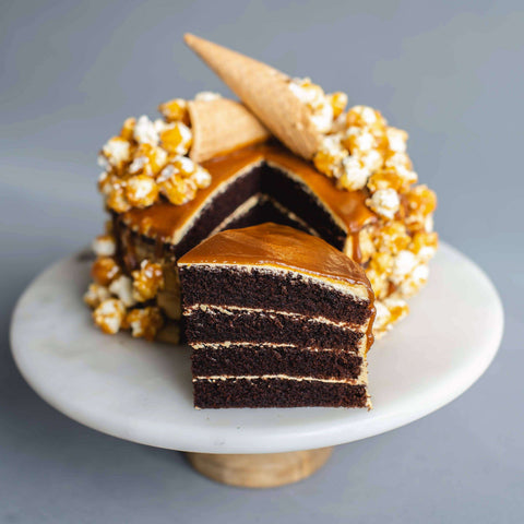 "Salted Caramel Ice Cream Cake 7"" - Salted Caramel Chocolate Cake - Ennoble - - - - Eat Cake Today - Birthday Cake Delivery - KL/PJ/Malaysia"