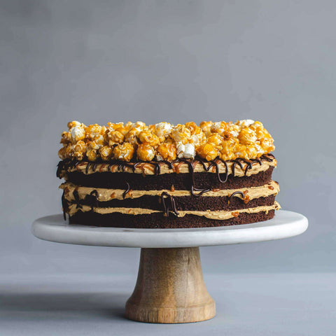 "Salted Caramel Popcorn Cake 9"" - Salted Caramel Chocolate Cake - Ennoble - - Eat Cake Today - Birthday Cake Delivery - KL/PJ/Malaysia"