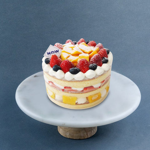 "Strawberry & Mango Naked Cake 8"" - Fruit Cakes - Now Bakery - - Eat Cake Today - Birthday Cake Delivery - KL/PJ/Malaysia"