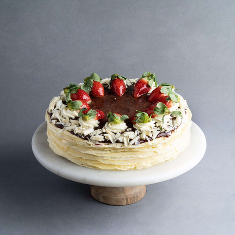 "Strawberry Mille Crepe 9"" - Mille Crepe - Food Foundry - - Eat Cake Today - Birthday Cake Delivery - KL/PJ/Malaysia"