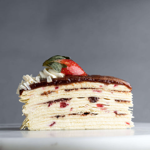 "Strawberry Mille Crepe 9"" - Mille Crepe - Food Foundry - - - - Eat Cake Today - Birthday Cake Delivery - KL/PJ/Malaysia"