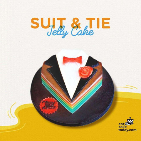 Suit & Tie Jelly Cake - Jelly Cakes - Q Jelly Bakery - - - - Eat Cake Today - Birthday Cake Delivery - KL/PJ/Malaysia