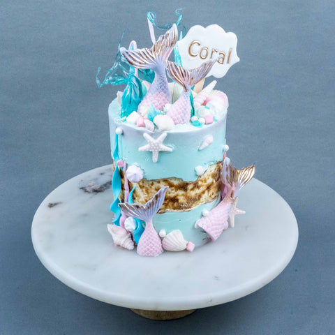 "Swimming with Mermaids Cake 4"" - Designer Cakes - The Buttercake Factory - - Eat Cake Today - Birthday Cake Delivery - KL/PJ/Malaysia"