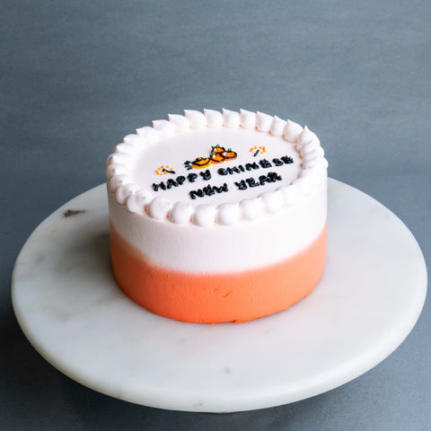 "Tangerine Chinese New Year Cake 6"" - Sponge Cakes - Jyu Pastry Art - - Eat Cake Today - Birthday Cake Delivery - KL/PJ/Malaysia"