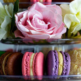Tower of 18 Macarons and Flowers - Macarons - Ennoble by Elevete - - Eat Cake Today - Birthday Cake Delivery - KL/PJ/Malaysia