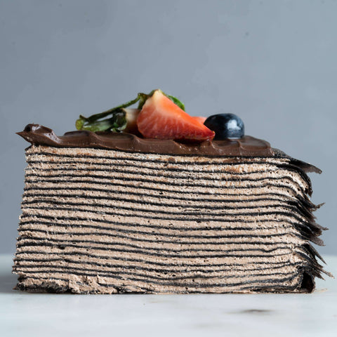 "Triple Chocolate Mille Crepe 8"" - Mille Crepe - Junandus - - Eat Cake Today - Birthday Cake Delivery - KL/PJ/Malaysia"