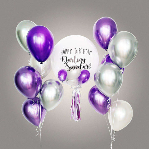 Ultimate Chrome Bubble Balloon Bouquet - Add On - Party Perfect - - Eat Cake Today - Birthday Cake Delivery - KL/PJ/Malaysia
