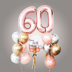 """Ultimate Chrome Bubble Balloon Bouquet With 40"""" Number Foil"""