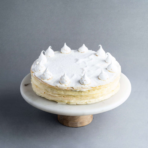 "Vanilla Mille Crepe 9"" - Mille Crepe - Food Foundry - - - - Eat Cake Today - Birthday Cake Delivery - KL/PJ/Malaysia"