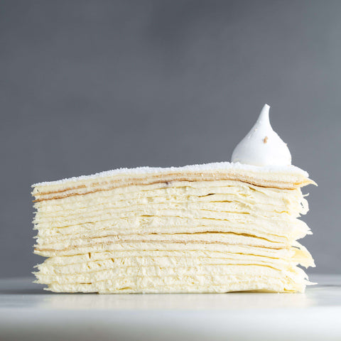 "Vanilla Mille Crepe 9"" - Mille Crepe - Food Foundry - - Eat Cake Today - Birthday Cake Delivery - KL/PJ/Malaysia"